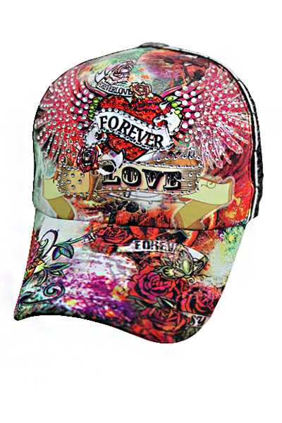 Forever Heart wing Rose Print