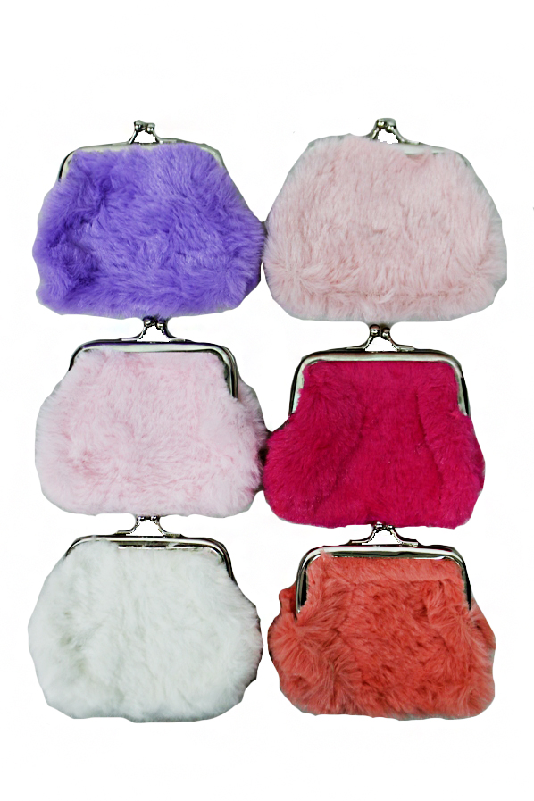 Faux Fur Vintage Coin Purse Mini Bag