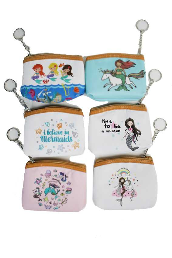 Little Mermaid Collection Zip Up Coin Purse Bag