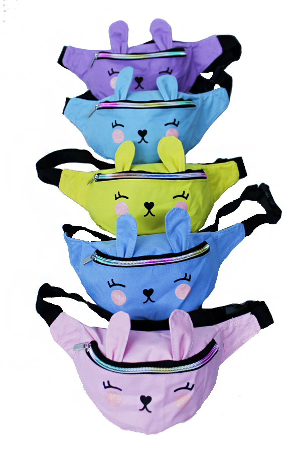 Kids Bunny Design Soft Canvas Fanny Pack