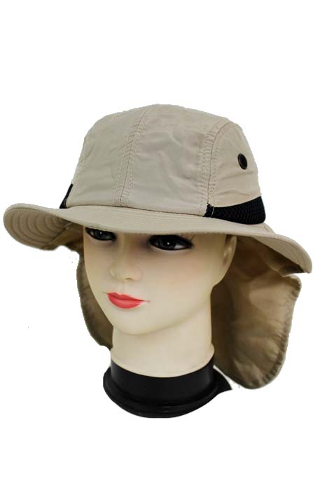 Chiffon Fabric with Neck Cover soft Sun Hat.