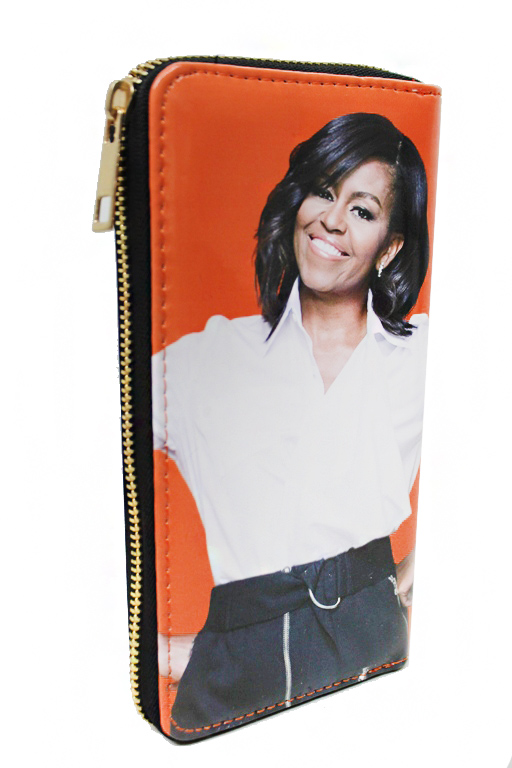 Obama's Color Pattern Patent Leather Portrait Printed Wallets