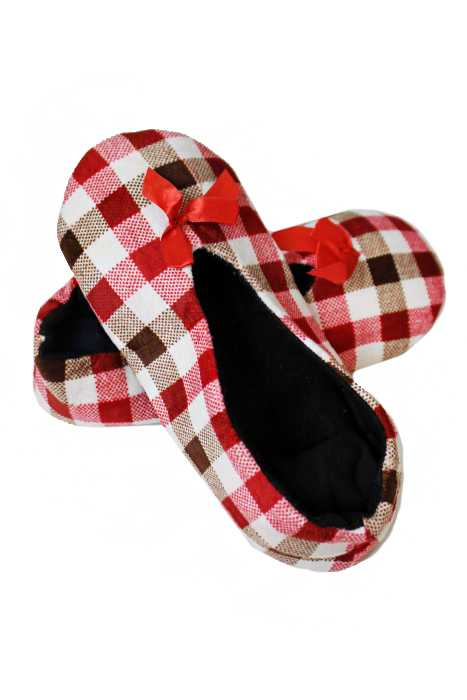 Colorful Checkered Grip Slip Soft Thick Furry Lined Sock Slipper