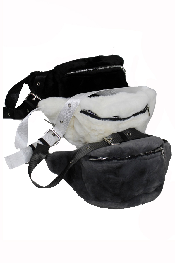 Unisex Luxury Faux Fur Fanny Pack
