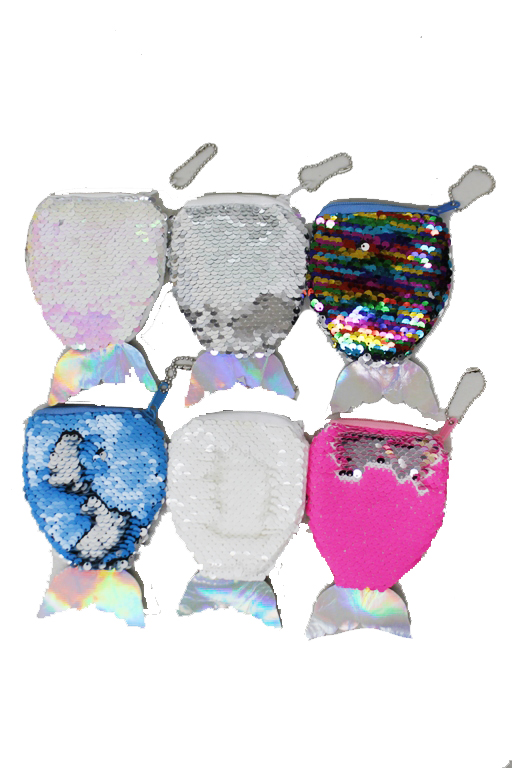 Mini mermaid Color Reversed Shimmery Sequin Coin Clip Bags