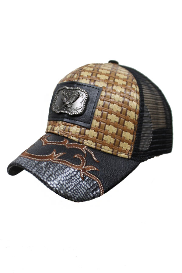 Soaring Great Eagle Straw Baseball Rodeo Cap