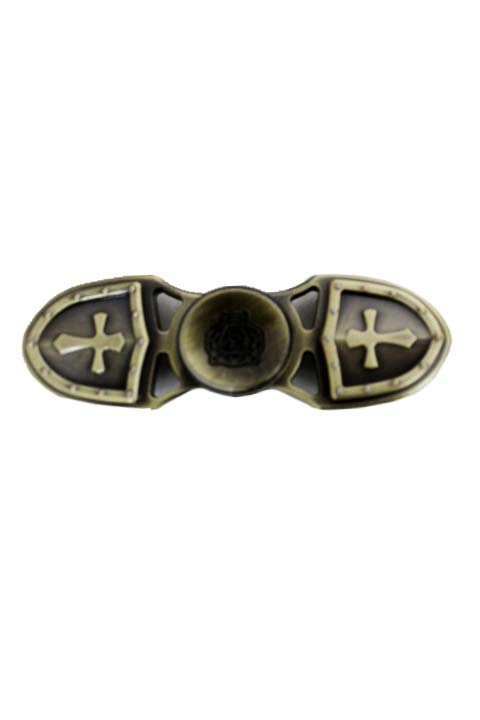 Cross and Tiger Vintage Metal Alloy Triple Fidget Spinner