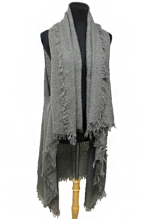 Basic Chic Textured Classic Cardigan Vest