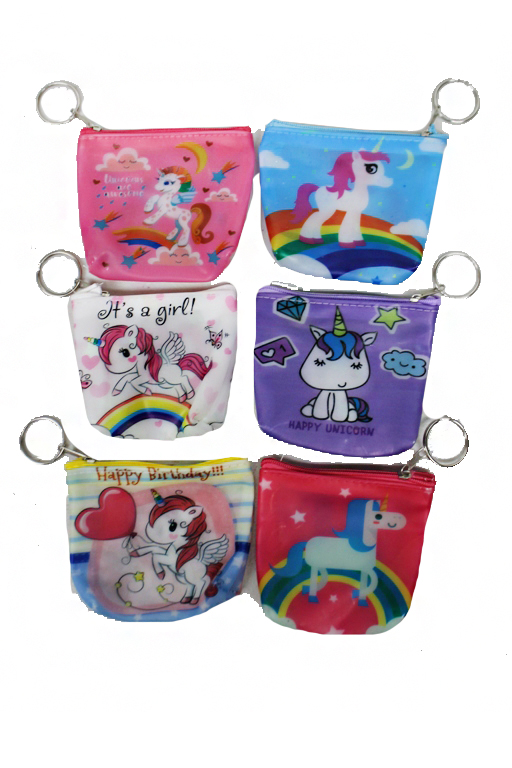 Silicon Unicorn coin Bag With Key Ring