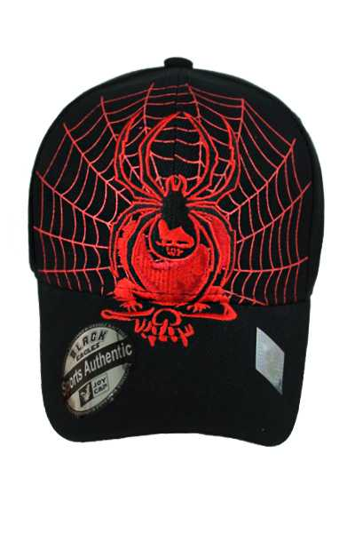 Skull and Spider Design baseball Cap Style