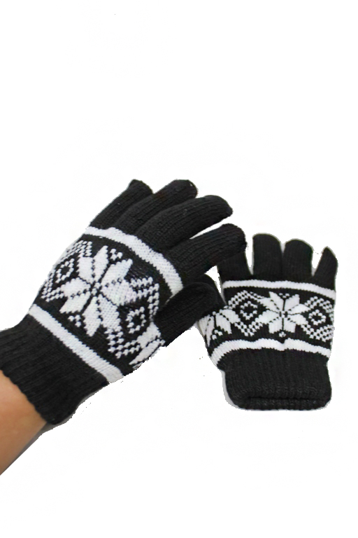 Extra thick Lined Snowflake Stretchy Gloves