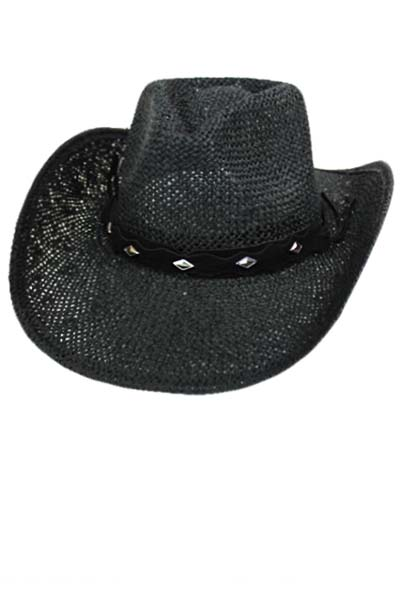 Diamond Studded Belt on Cowboy Hat