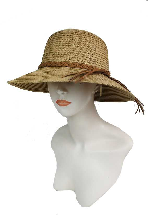 Sturdy And Chic Basic Bucket with Twist Suede Tassel Fringed Rope Band Bucket Style Hat