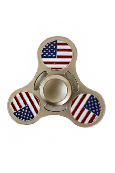 Metallic American Flag Metal Fidget Hand Spinner