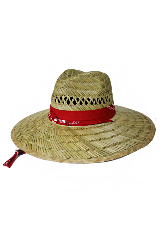 All Natural Outdoor Paisley Bandana Band Straw Hat