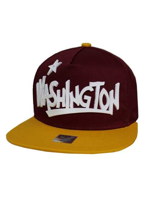 Washington Silicon Patch City Design Cotton Snap Back