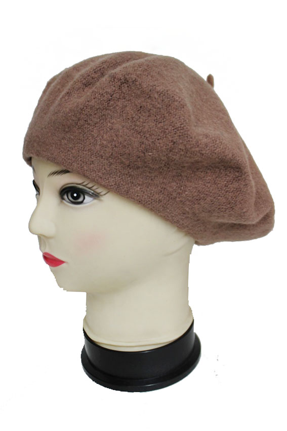 Nude And Neutrals Novelty Wool Beret Hat
