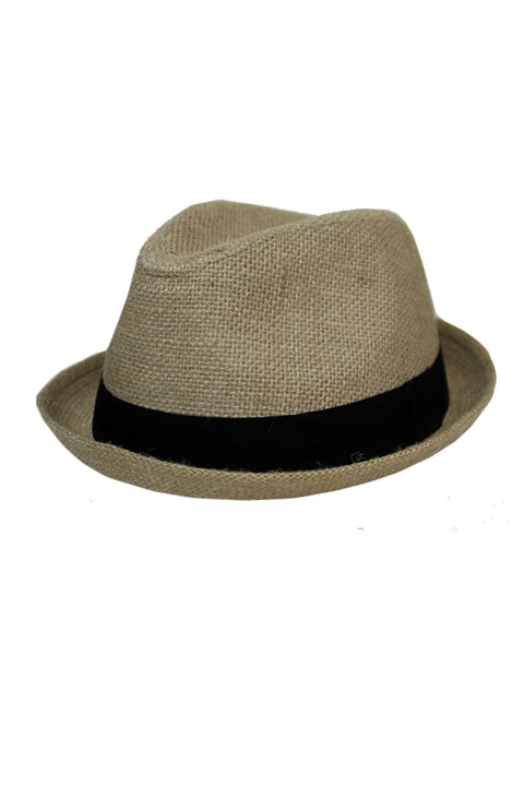 Burlap Fabric Up Brim Strong Fedoras