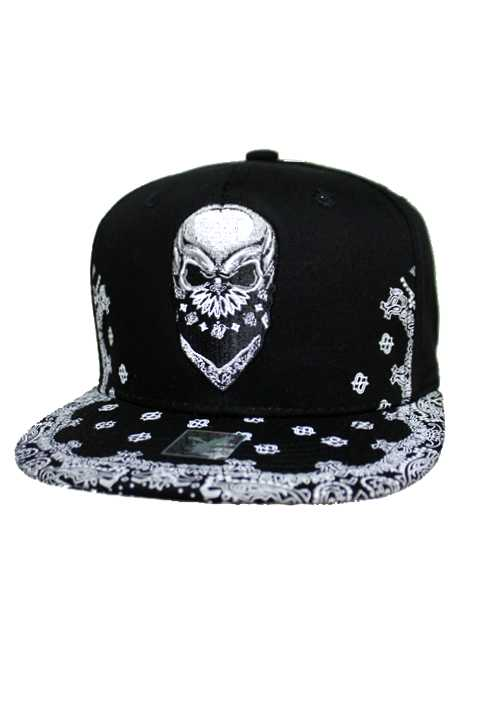 Bandana Printed Skull Design Snap Back