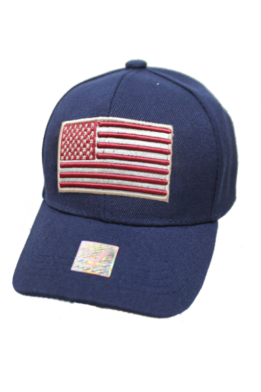 Embroidered American Flag Youth Baseball Cap