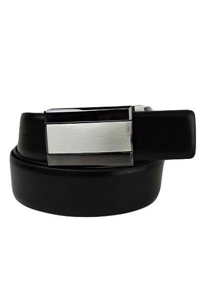 Men's Square Buckle Reversible Leather Belt