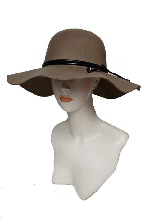 Faux Leather Western Boho Belted Super Softness Floppy Hat