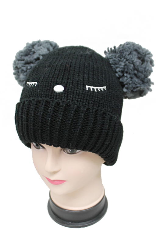 Double Ear Animal Stitched Goofy Beanies