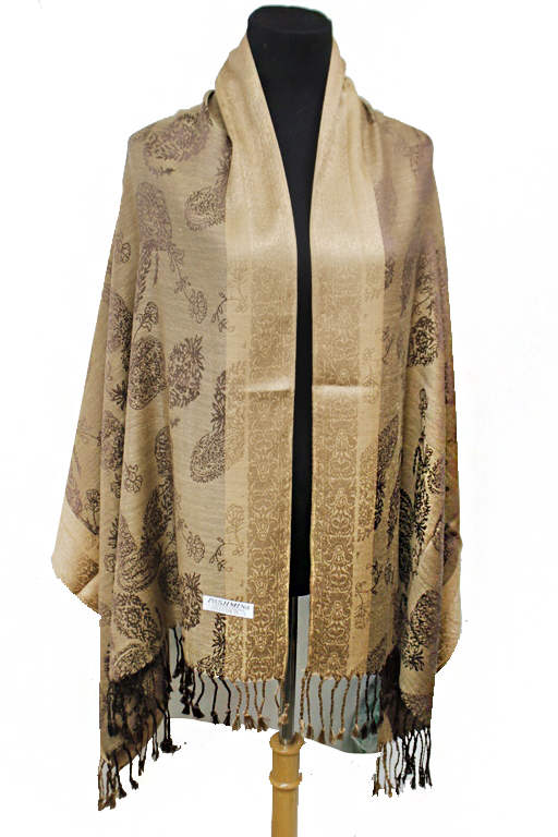 Luxurious Bohemian Leaves Silky Pashminas