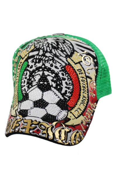 Mexico Soccer  Kid and Junior Stone print Cap