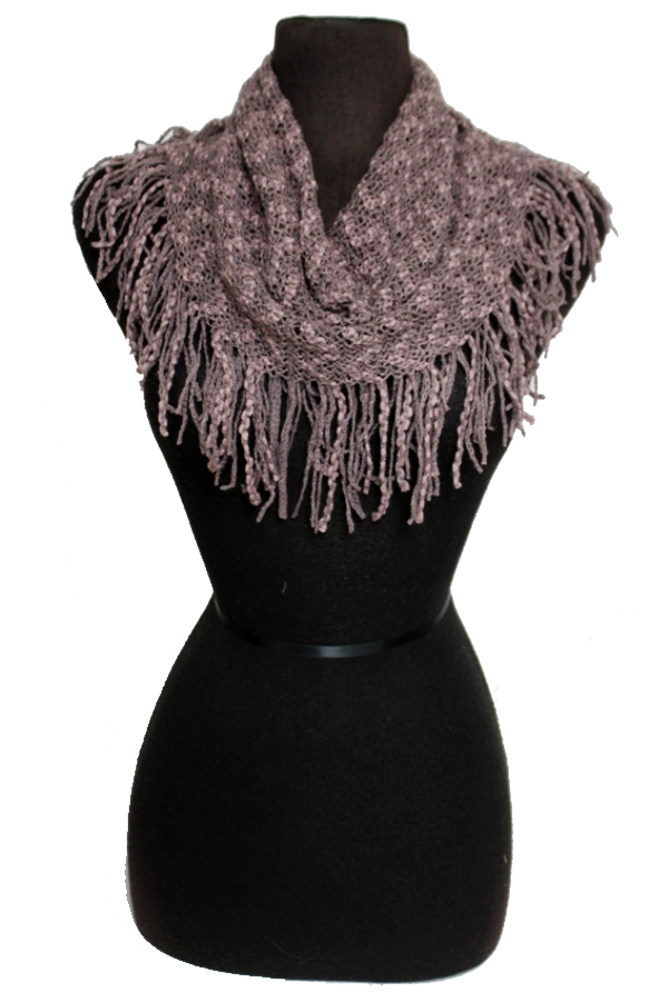Two Tone Chevron Pattern Knitted Design Mini Magic Softness Scarves