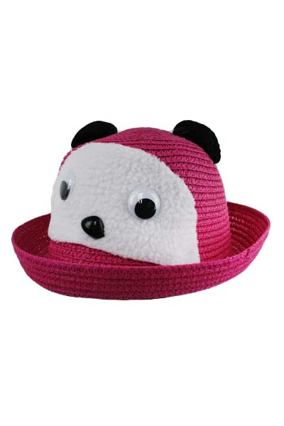 Cutie Bear Face Brim Up Sun Hat