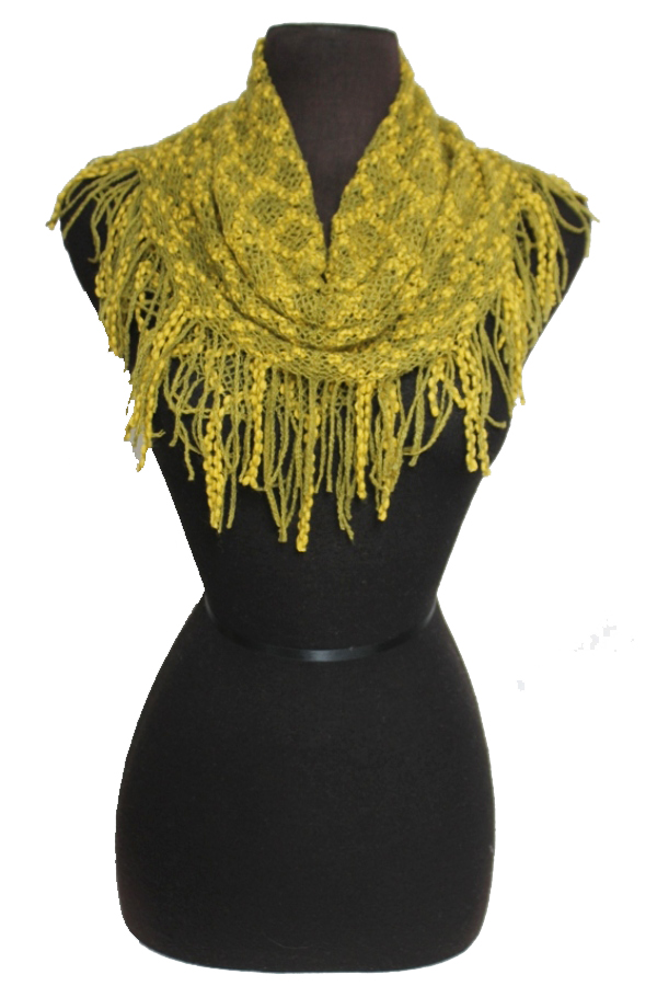 Diamond Pattern Pattern Knitted Design Mini Magic Softness Scarves