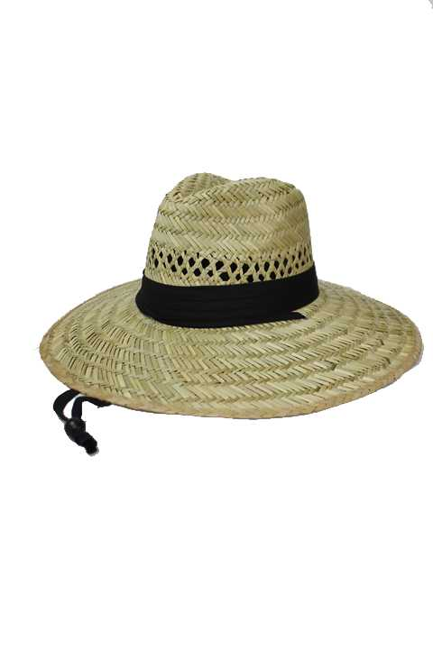 All Natural Straw Panama Outdoor Plain Cotton Band