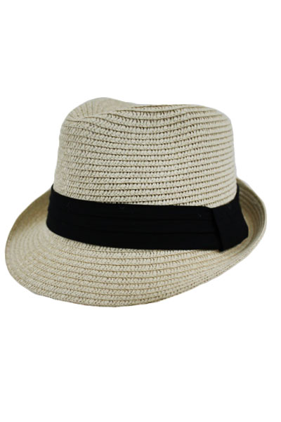 Straw with Dress band Kid and Junior Fedora