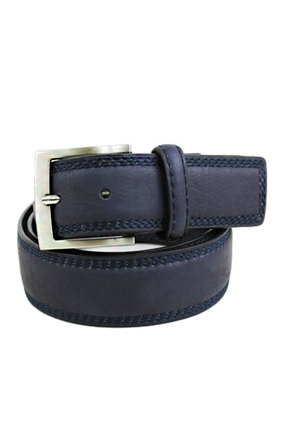 Stitched Jeans Leather Belt