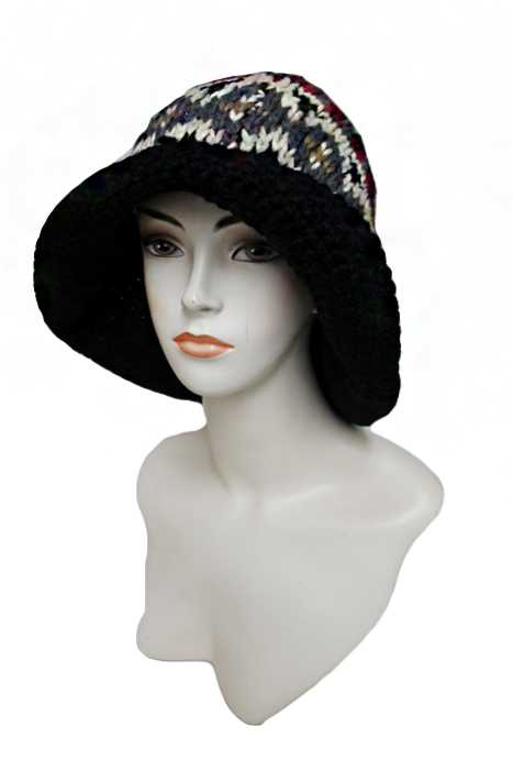 Tribal Pattern Long Bucket Hand Made Thick Softness Hat