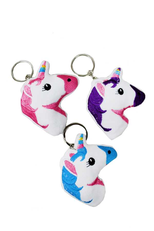 Soft and Plush Animated Unicorn Charms with Key Chain