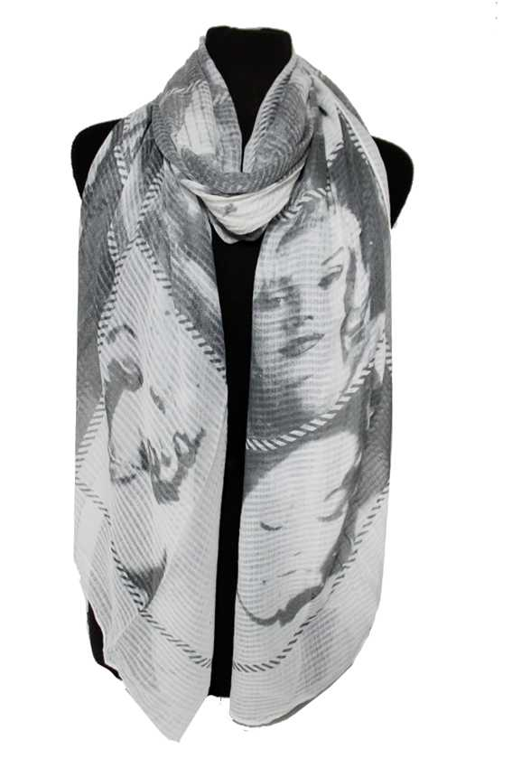 Marilyn Monroe Fashion Icon newspaper Print Style Softness Oversized Shawls Scarf