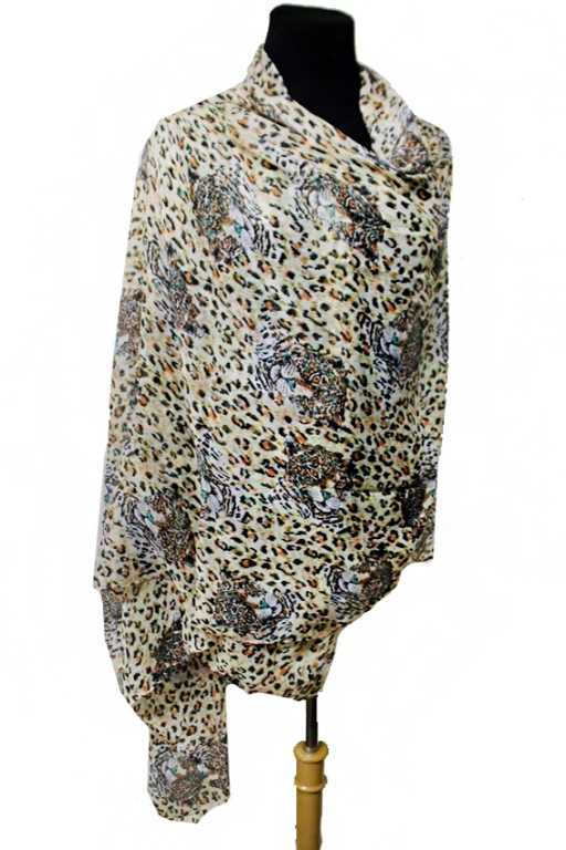 Wildlife Safari Leopard Print With Leopard Print Extra Oversized Shawls Scarf