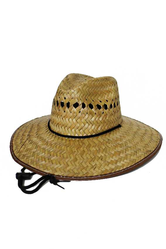 Natural Straw Weaved Vented Crown Outdoor Camping Garden Hat