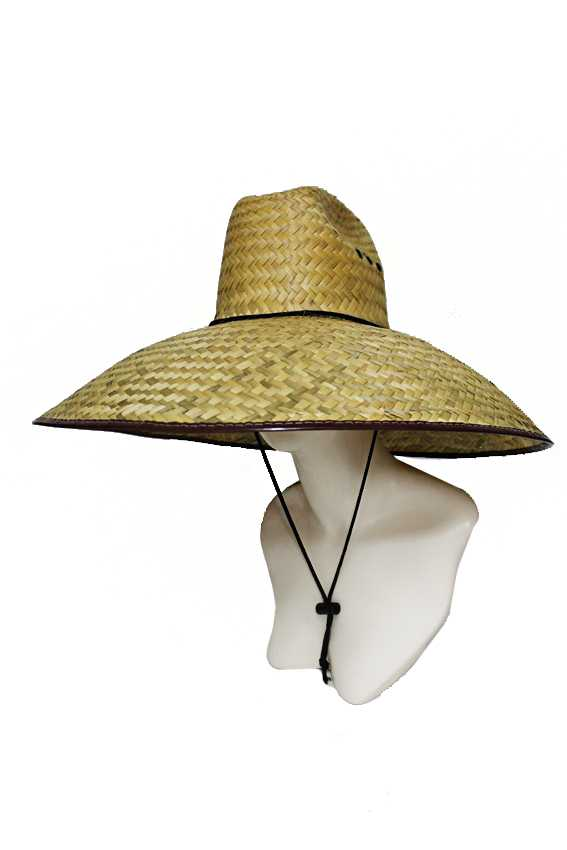 Extra Wide Brim Outdoor Natural Straw Weaved Cowboy Style Hat