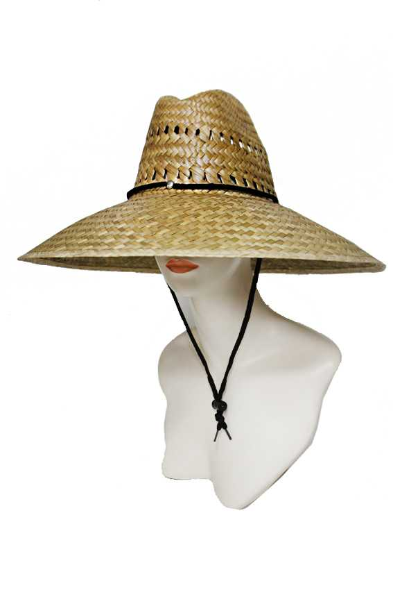Downward Brim Outdoor Straw Hat