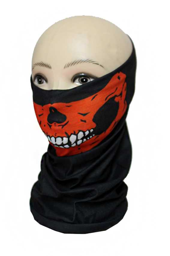 Outdoor Ski Motorcycle Cycling Balaclava Skull Design Mask Neck