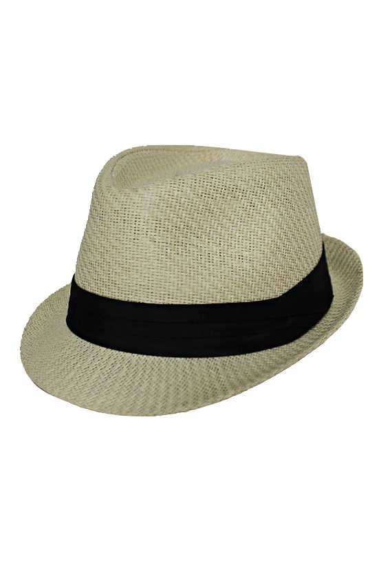 Solid Strong Toyo Straw With Black Band Fedoras