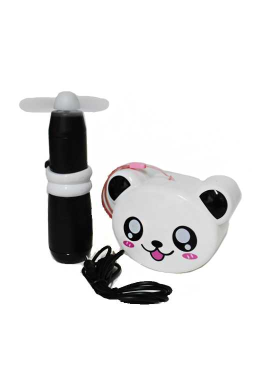Animated animal mirror Back Deluxe Electric Hand Held Fans