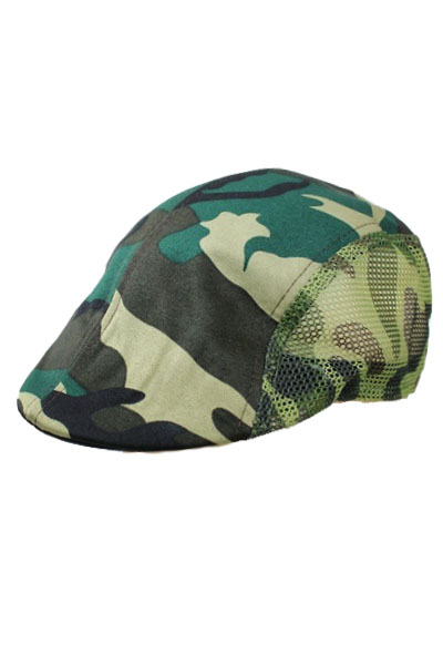 Green camouflage with Mesh ivy Hat