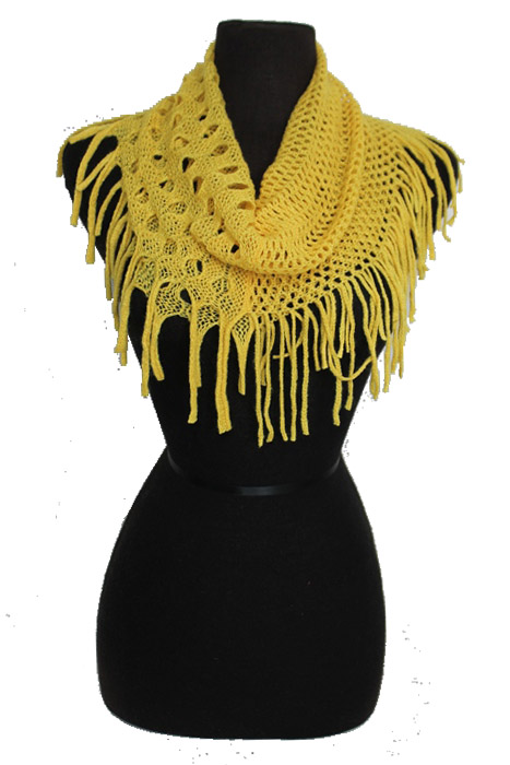 Mini Fashion Tunnel Oversized Half Hole Knit With Mini Hole Softness Scarves