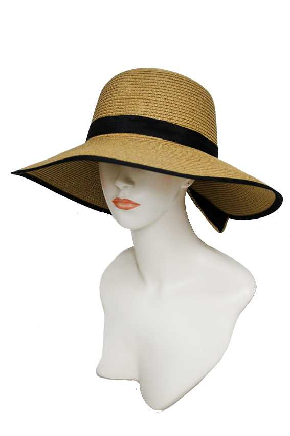 Large Bow Banded and Visor Styled Bucket Sun Hat