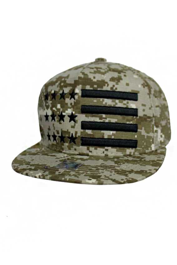 American Flag Design Camouflage Snap Back