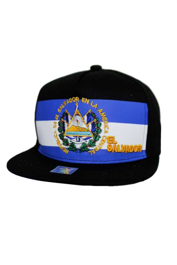 El salvador emblem Flag Five Panel Snap Back